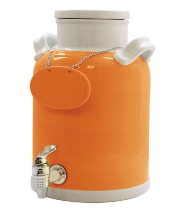 Orange & White Beverage Dispenser