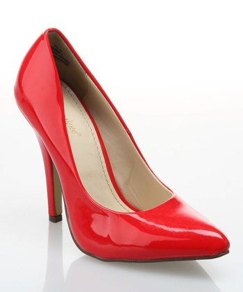 Red Patent Pump