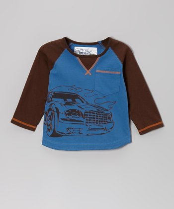 Blue Suede Muscle Car Long-Sleeve Tee - Infant, Toddler & Boys