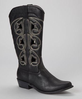 Black Denco 2 Cowboy Boot