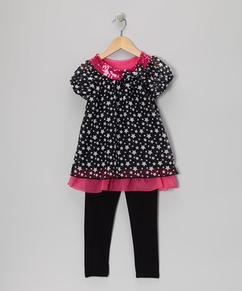 Black Star Tunic & Leggings - Girls