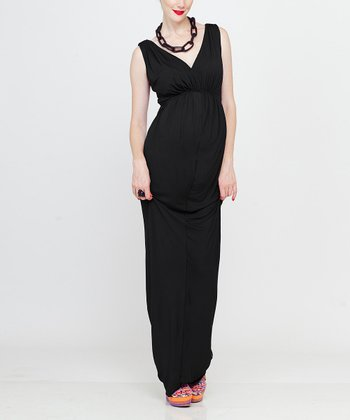 Black Adi Maternity Maxi Dress