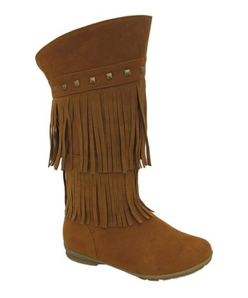 Rust Studded Fringe Trina Boot