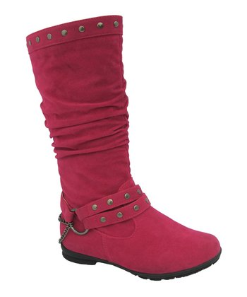 Fuchsia Harness Claudia Boot