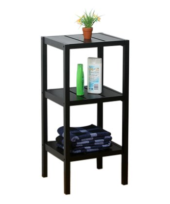 Black Three-Tier Square Stand