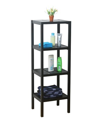 Black Four-Tier Square Stand