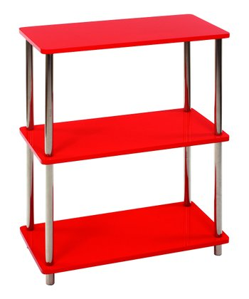 Red Three-Tier Rectangle Shelf