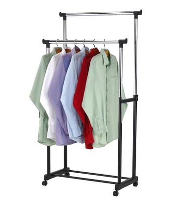 Black & Silver Double Garment Rack