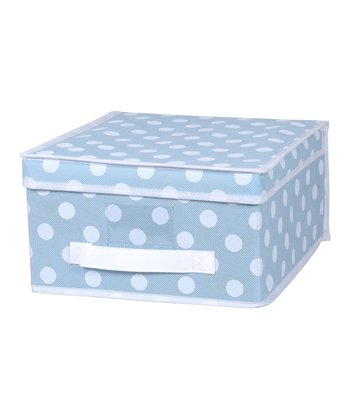 Blue Polka Dot Medium Storage Box
