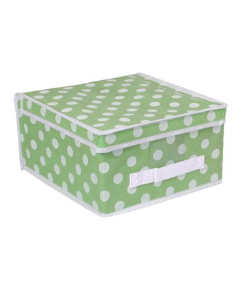 Green Polka Dot Medium Storage Box