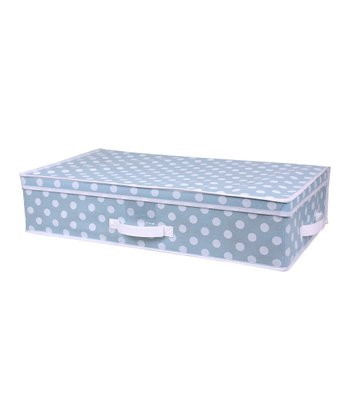 Blue Polka Dot Under-Bed Storage Box