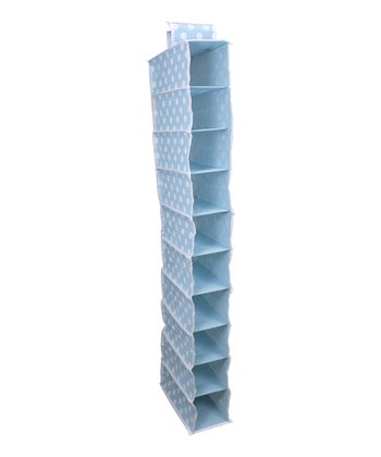 Blue Polka Dot 10-Shelf Closet Organizer