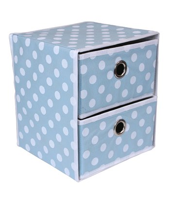 Blue Polka Dot Two-Drawer Organizer