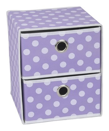 Purple Polka Dot Two-Drawer Organizer