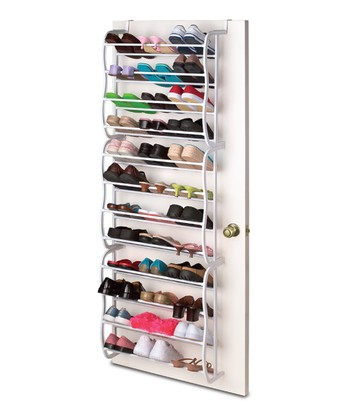 White Over-Door Shoe Rack