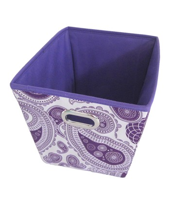 Purple Paisley Small Storage Bin
