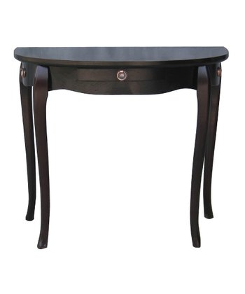 Espresso Half-Moon Accent Table