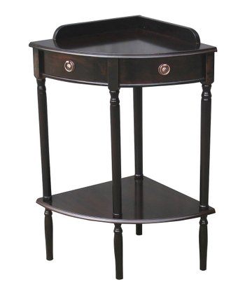 Espresso Corner Accent Table