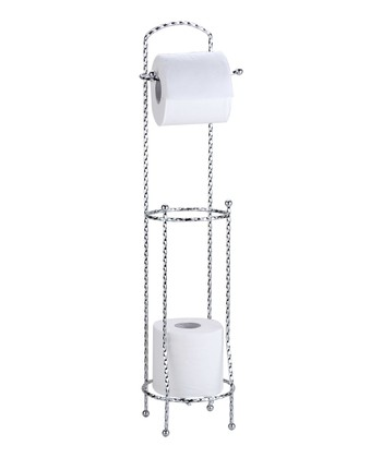 Chrome Twisted Metal Toilet Paper Holder/Dispenser