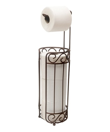 Bronze Scroll Toilet Paper Holder/Dispenser