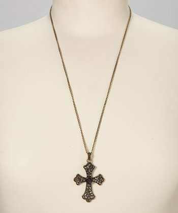 Gold Antique Cross Necklace