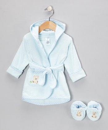 Blue Bear Terry Robe & Booties