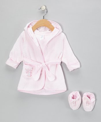 Pink Bunny Terry Robe & Booties