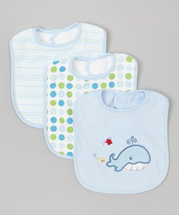 Blue Whale Bib Set
