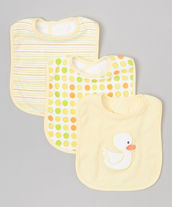 Yellow Duck Bib Set