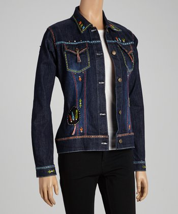 Denim Black Native Chief Jacket - Women & Plus
