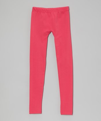 Ferry Fuchsia Slinky Leggings - Girls