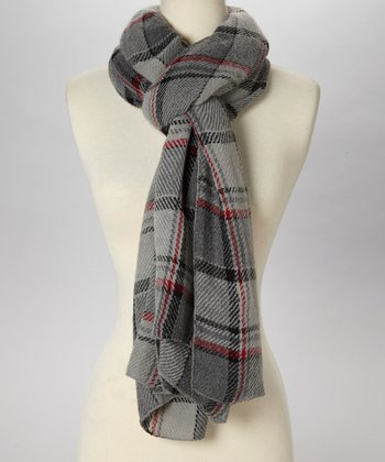 Gray Plaid Scarf