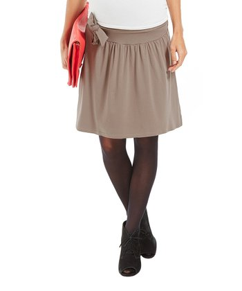 Taupe Givona Under-Belly Maternity Skirt