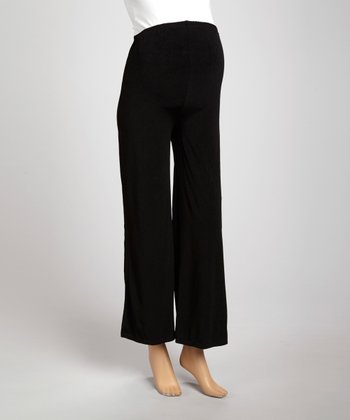 Black Maternity Lounge Pants - Women