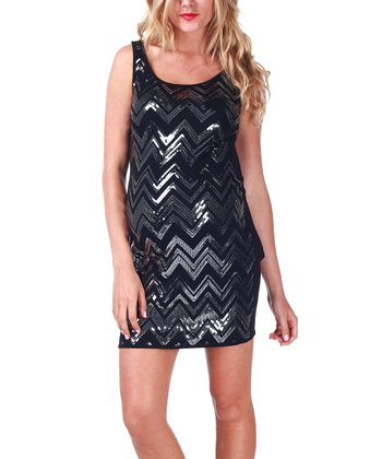 Silver Zigzag Maternity Sleeveless Dress
