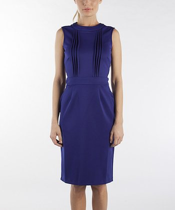 Midnight Blue Cornelia Sleeveless Dress