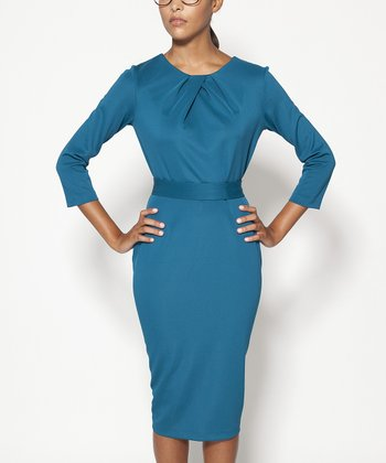 Peacock Lexington Three-Quarter Sleeve Dress - Women