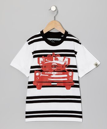 Black Fire Engine Tee - Toddler & Kids