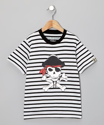 Black Pirate Tee - Toddler & Kids