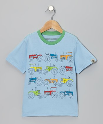 Sky Tractor Tee - Toddler & Kids
