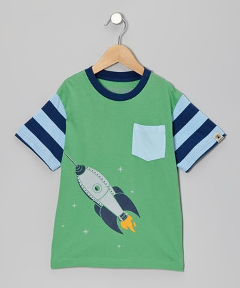 Green Rocket Tee - Toddler & Kids
