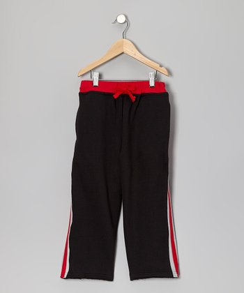Black Athletic Sweatpants - Toddler & Boys