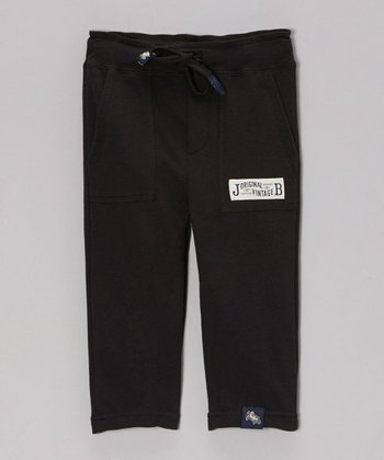 Black Slim French Terry Pants - Infant & Toddler