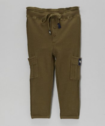 Forest Relaxed Vintage Thermal Pants - Toddler & Boys