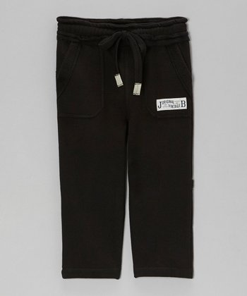 Black Relaxed Fleece Pants - Toddler & Boys