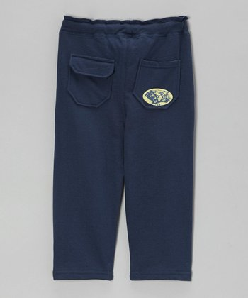 Royal Blue Relaxed French Terry Pants - Toddler & Boys