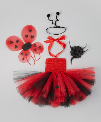 Red & Black Ladybug Tutu Dress Set - Infant & Toddler