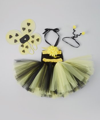 Black & Yellow Bumblebee Tutu Dress Set - Infant & Toddler