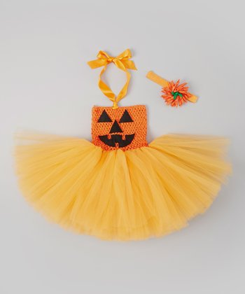 Orange Jack-O'-Lantern Tutu Dress Set  - Infant & Toddler