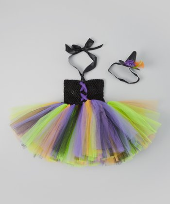 Black & Purple Witch Tutu Dress Set - Infant & Toddler